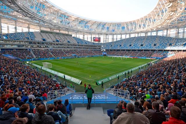 «Эстремальные ливни»: нижегородский стадион протёк