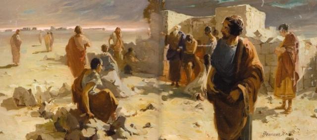 Николай Фешин. Выход из катакомб после моления. 1903