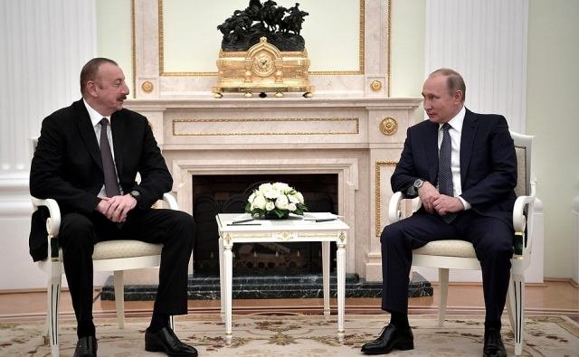 Ильхам Алиев и Владимир Путин. Встреча во время проведения ЧМ по фтуболу 2018