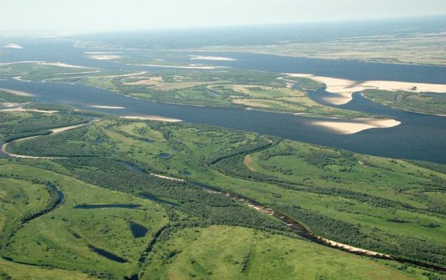 Река Лена. Район Якутска. Россия