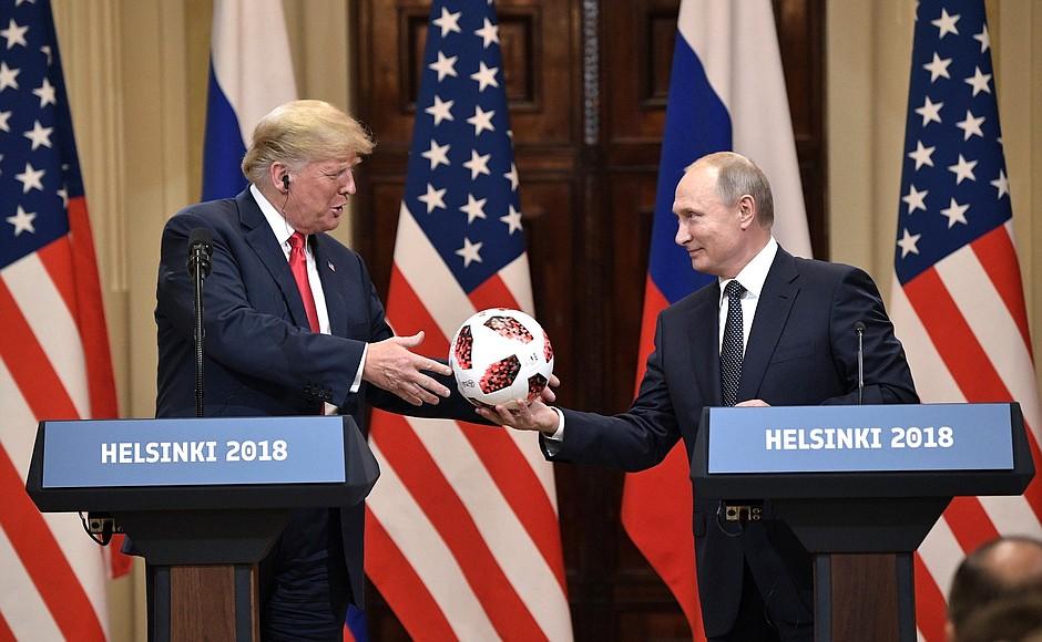 Пресс-конференция по итогам переговоров президентов России и США. Хельсинки. 2018