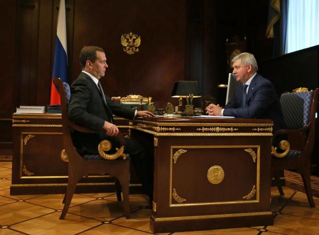 Врио воронежского губернатора доложил Медведеву о видах на урожай