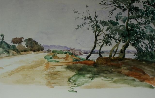 Александр Иванов. Итальянский пейзаж. Неттуно. Середина 1840-х — 1850-е