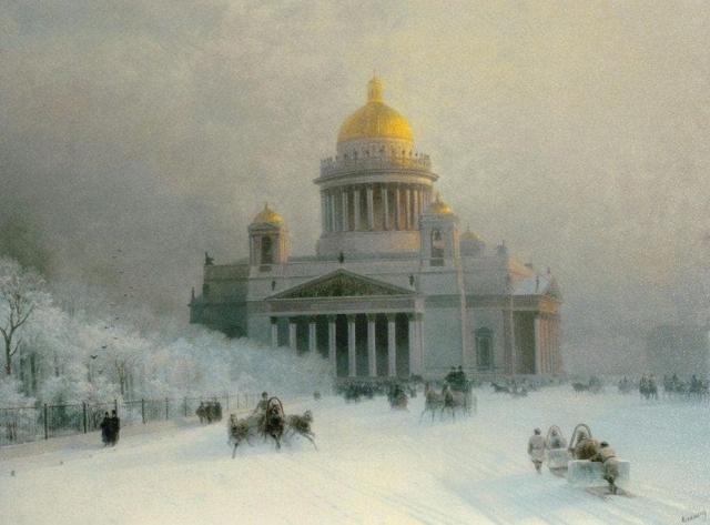 Исаакиевский собор в морозный день. Иван Айвазовский. 1871 г