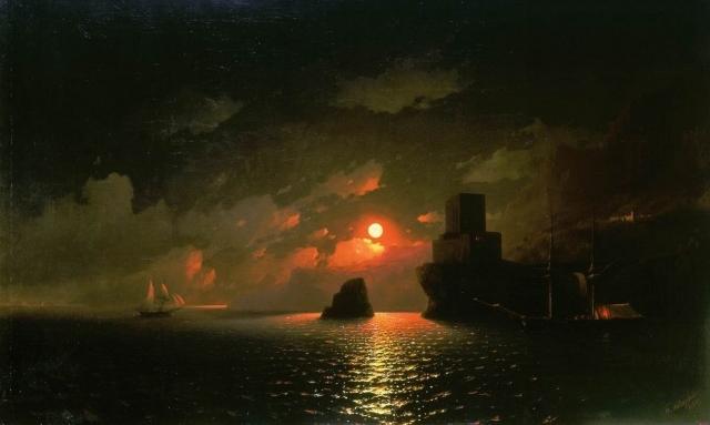 Лунная ночь. Иван Айвазовский. 1849 год