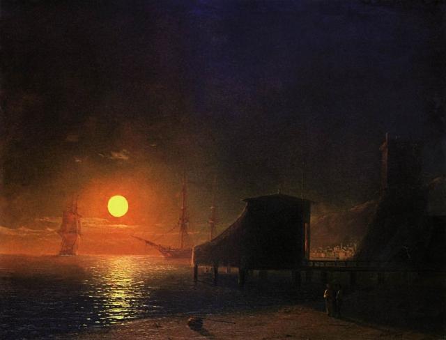 Феодосия. Лунная ночь. Иван Айвазовский. 1852 г