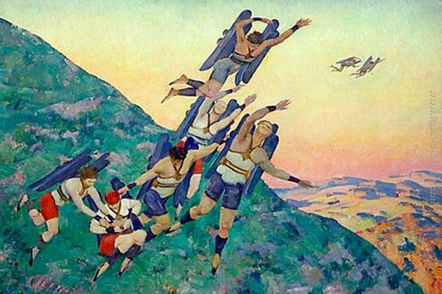 Константин Юон. Люди будущего. 1929