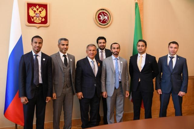 Встреча с делегацией ОАЭ. Умар Фарук Захур второй справа