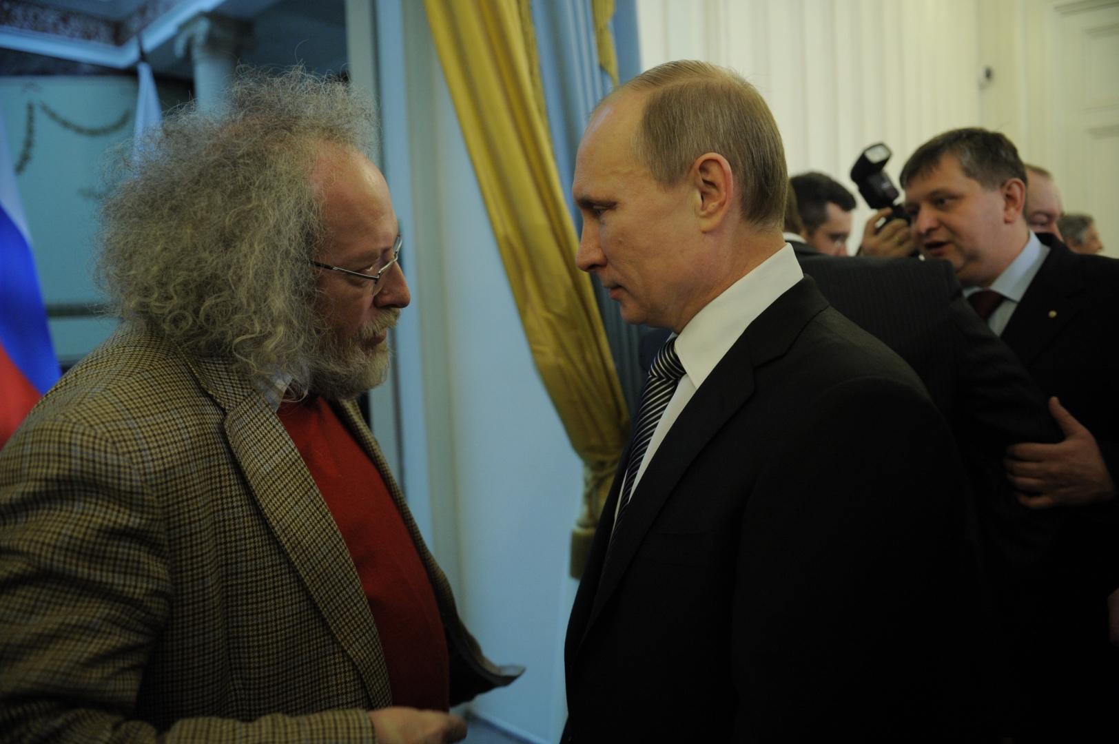 Владимир Путин и Алексей Венедиктов. 2012