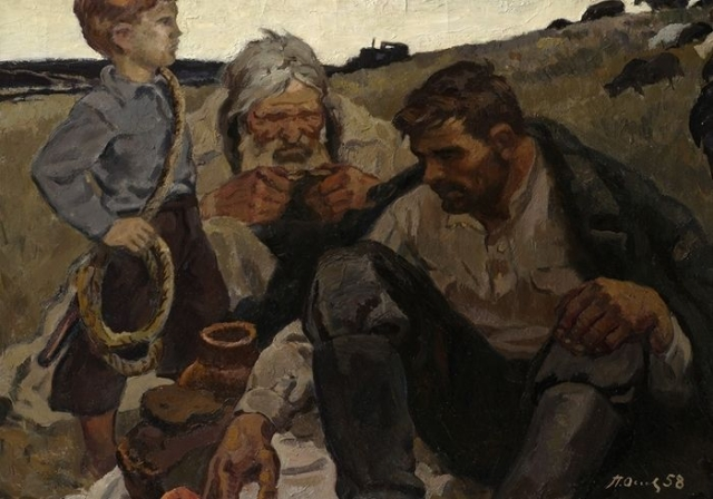 Оссовский Петр Павлович. Эскиз к картине Три поколения. 1958