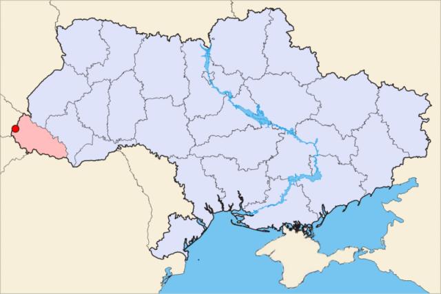 Закарпатская область на карте
