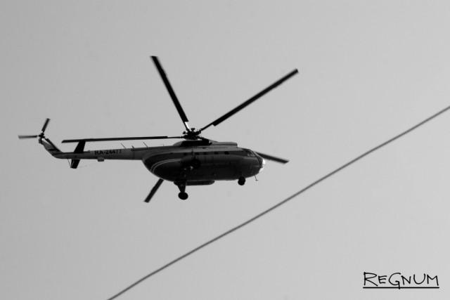 Катастрофа вертолета Ми-8 в Красноярском крае. Видео