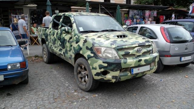 Тойота Supra получила камуфляж от военного линкора