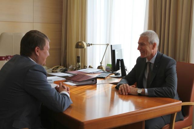 Мэр Красноярска Сергей Еремин встретился с президентом FISU