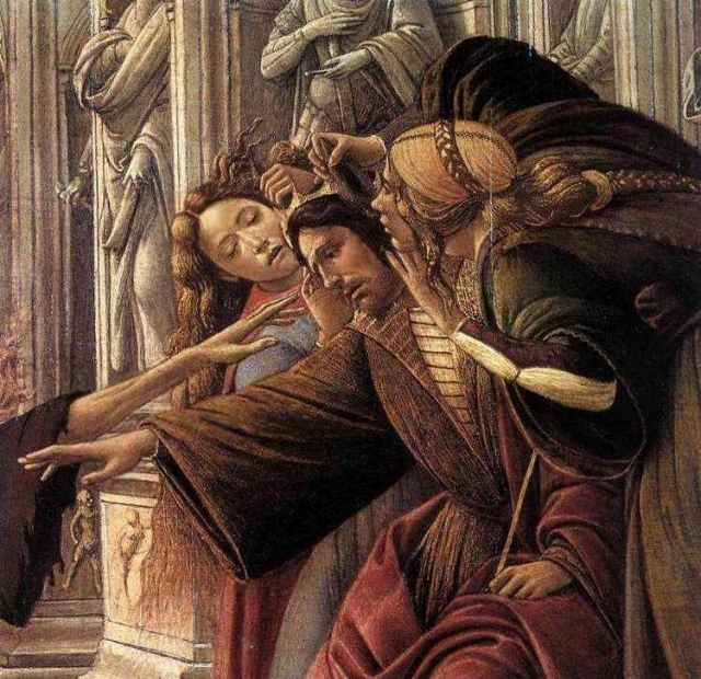 Сандро Боттичелли. Клевета (фрагмент). 1495