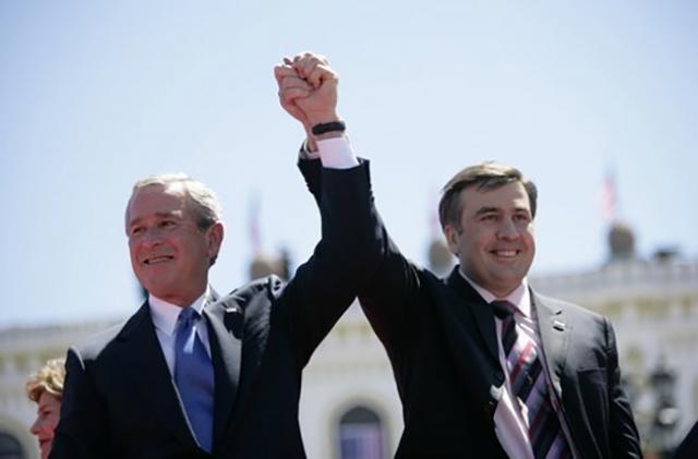 Джордж Буш и Михаил Саакашвили. 2005