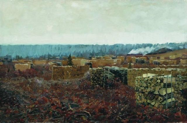 Исаак Левитан. Порубка. 1898