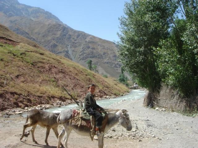 В Таджикистане пенсионерка за свой счет построила автомобильный мост