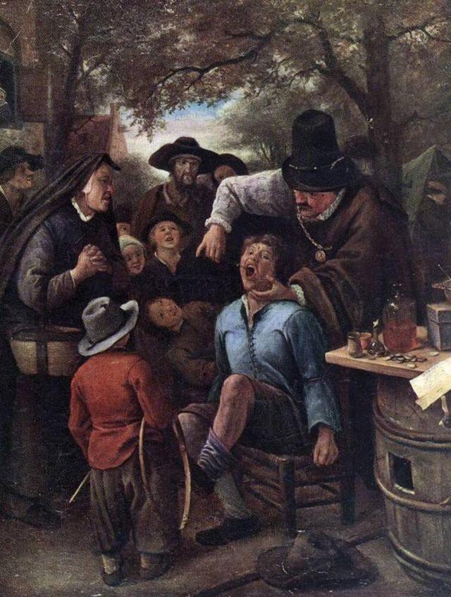 Ян Стен. Зубной лекарь. 1651