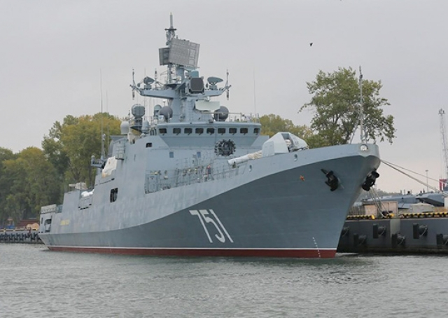 Российский фрегат два часа гонял «стратега» США в Средиземном море