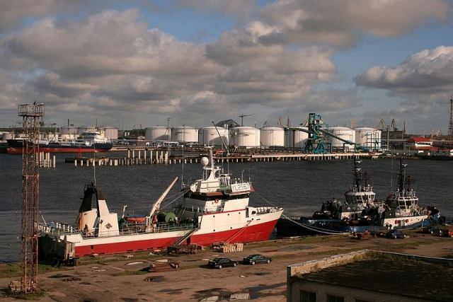 Вентспилсский порт. Латвия