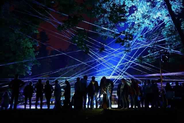 Фестиваль светового искусства открылся в Гатчине