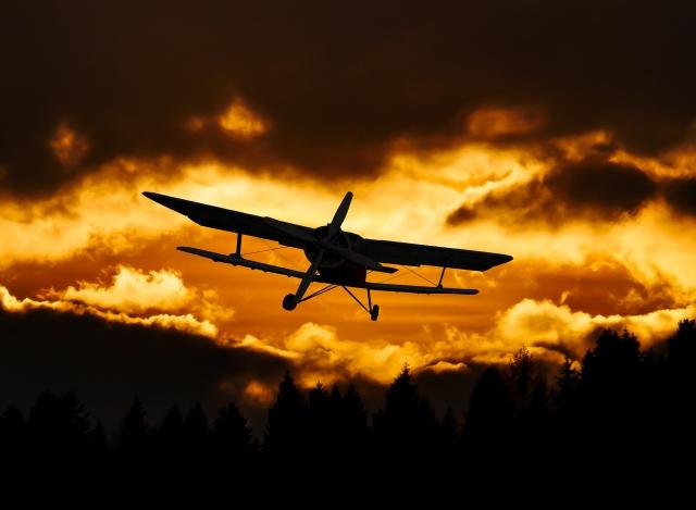 На Украине упал легкомоторный самолет