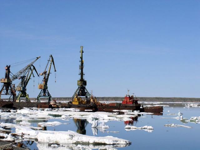 Порт Певек. Восточно-Сибирское море