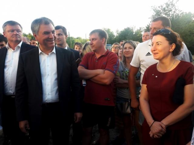 Вячеслав Володин с жителями микрорайона «Звезда» города Саратов