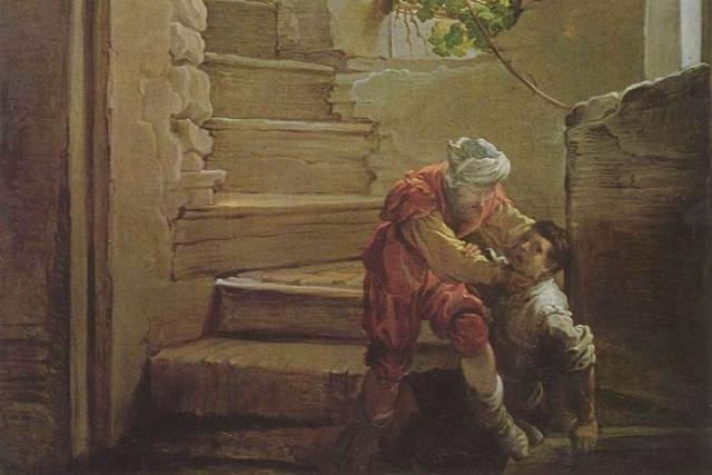 Доменико Фетти. Должник душит должника. ок 1620