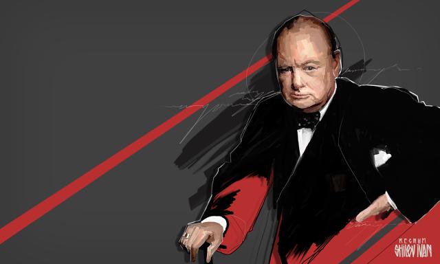 Империалист Черчилль и атомная бомба
