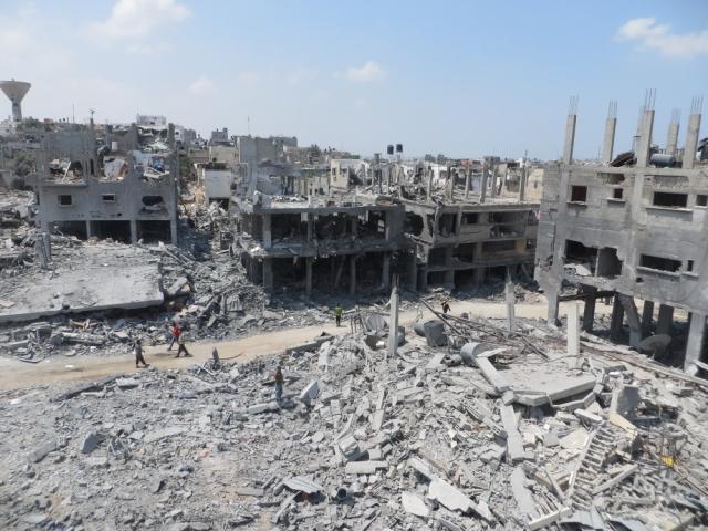 Разрушения в Секторе Газа после израильских бомбардировок