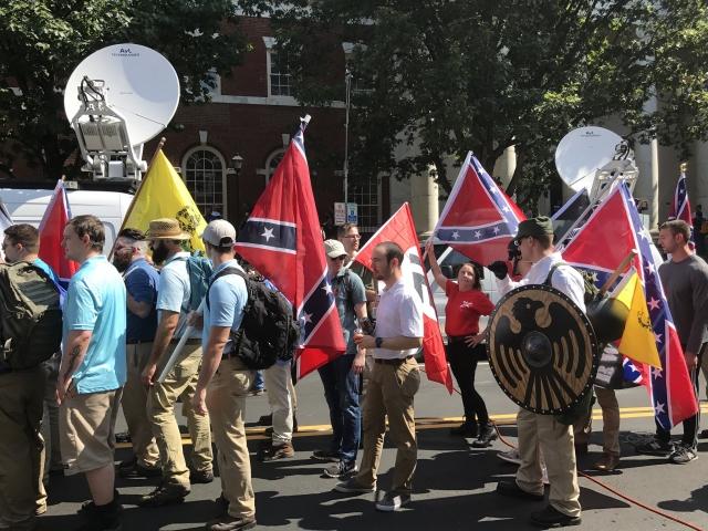 Демонстрация националистов в Шарлоттсвилл-Сити. Август 2017