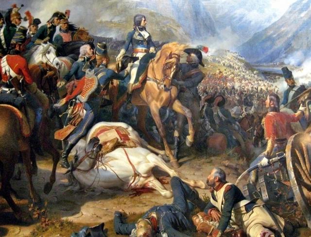 Феликс-Эмманюэль-Анри Филиппо. Бонапарт в битве при Риволи. Филиппото. 1845