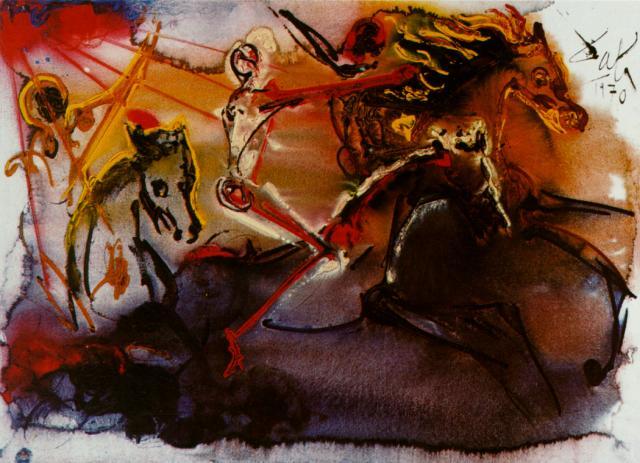 Сальвадор Дали. Всадник Апокалипсиса. 1970