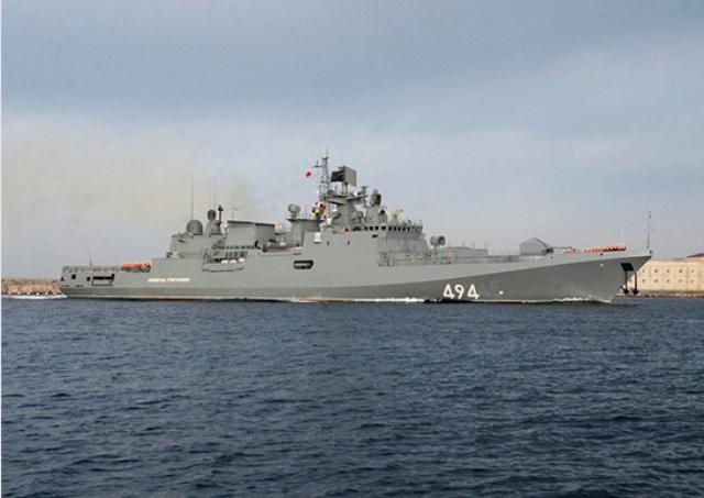Новый фрегат «Адмирал Григорович» стрелял ракетами «Калибр». Видео