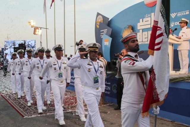 Представители Ирана на торжественной церемонии открытия конкурса Глубина-2018