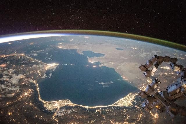 Каспийское море. Вид из космоса