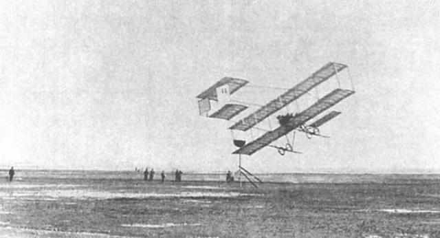 М. Н. Ефимов на «Фармане». Авиационные состязания в Ницце. 1910
