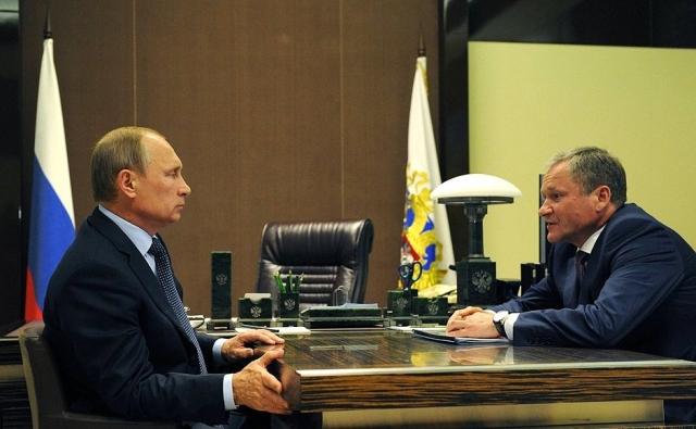 Алексей Кокорин на встрече с Владимиром Путиным
