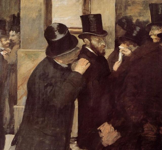 Эдгар Дега. Фондовая биржа. 1879