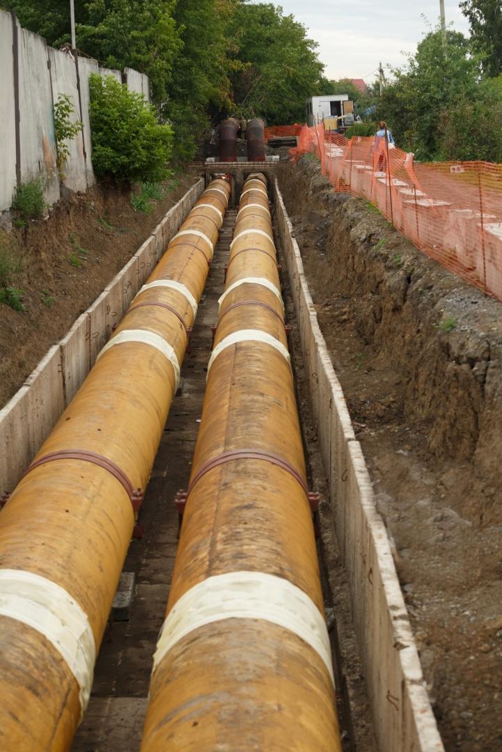 СГК завершает капитальный ремонт участка тепломагистрали в Кемерове
