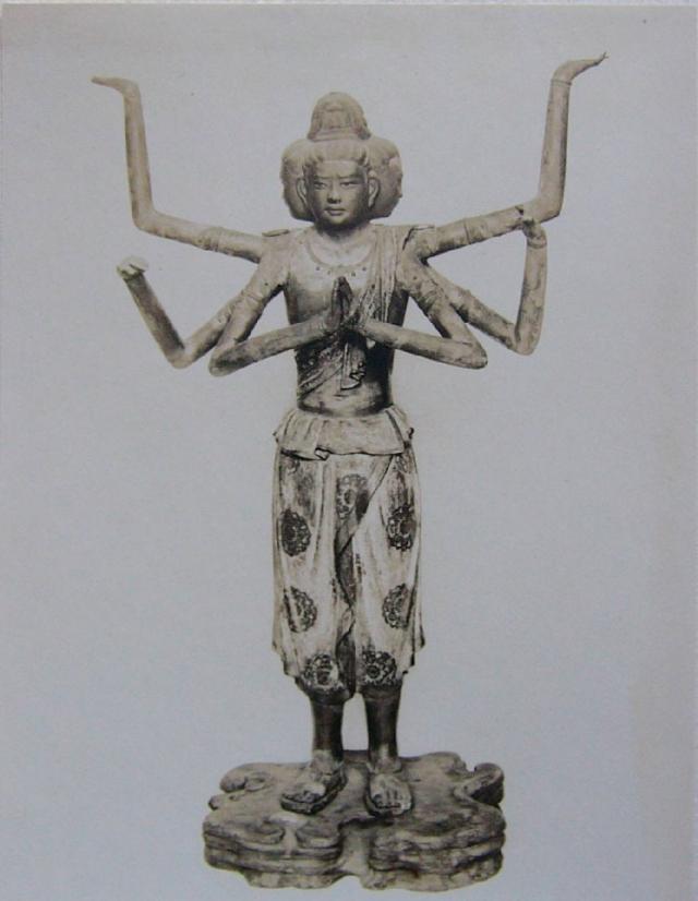 Статуя асуры — демона, с которым Кэндзи Миядзава ассоциировал своего лирического героя в сборнике «Весна и Асура»