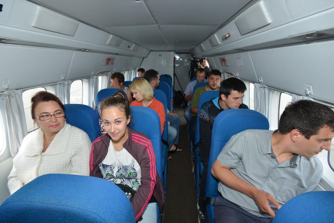Салон  самолета L-410, который начал выполнять рейсы по маршруту Горно-Алтайск – Новосибирск