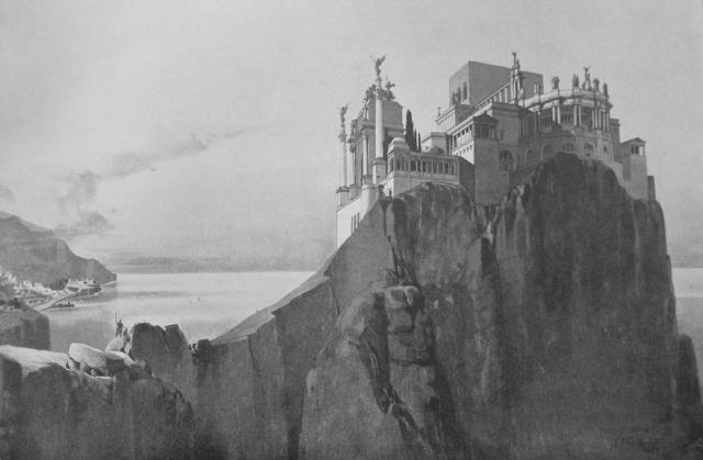 Дворец Тиберия на Капри, где юный Калигула проходил обряд инициации (реконструкция)