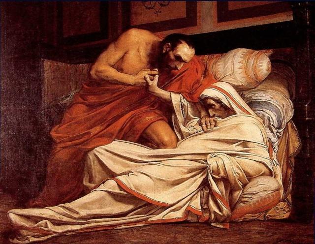 Жан-Поль Лоренс. Смерть Тиберия. 1864
