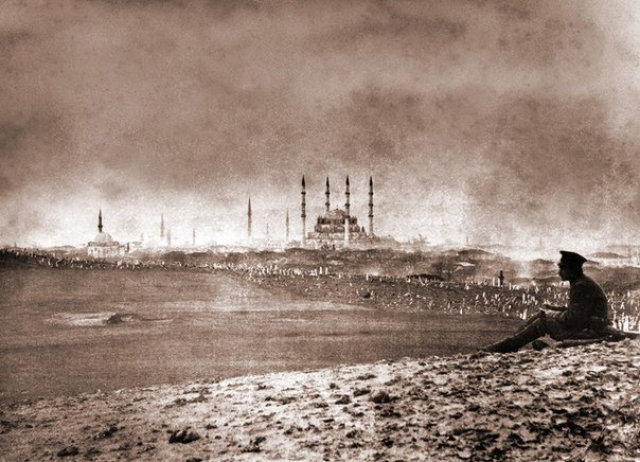 Русский солдат у стен Константинополя. 1878 год
