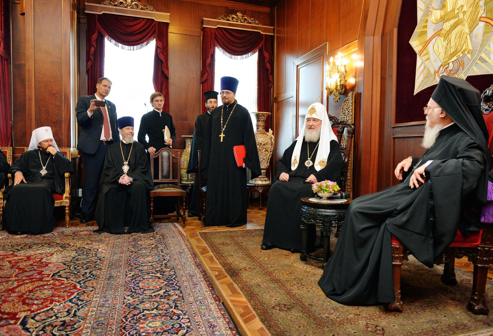 Встреча Предстоятелей Константинопольской и Русской Православных Церквей