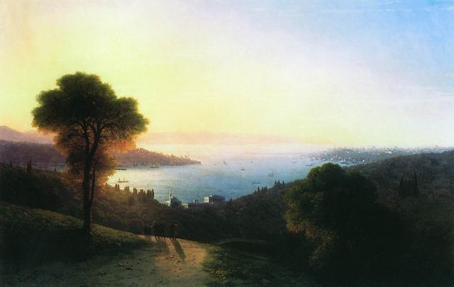 Иван Айвазовский. Вид Босфора. 1874