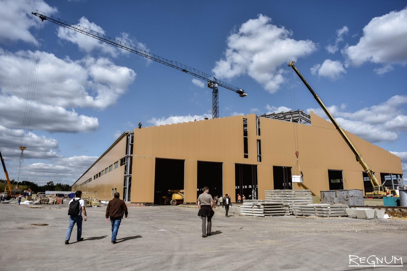 Строительство первого «Производственного погрузочно-разгрузочного Кластера на территории Люберецких очистных сооружений АО «Мосводоканал» «Некрасовка»